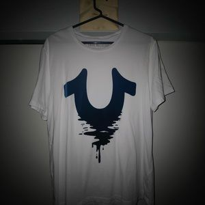 True Religion White drip t-shirt